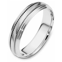 Item # 111631WE - 18K White Gold Comfort Fit, 5.5mm Wide Wedding Band
