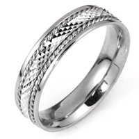 Item # 111651WE - 18K White Gold Comfort Fit, 5.5mm Wide Wedding Band