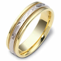 Gold Hand Made Comfort Fit Wedding Band