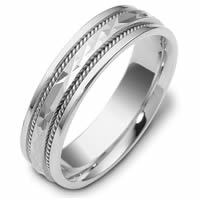 Item # 111661WE - 18K White Gold Comfort Fit, 6.0mm Wide Wedding Band
