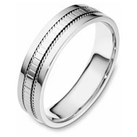 18K Comfort Fit, 5.5mm Wide Wedding Band