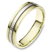 Item # 111671 - Two-Tone Gold Comfort Fit, 5.5mm Wide Wedding Band