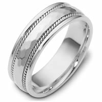 Platinum Comfort Fit, 7.5mm Wide Wedding Band