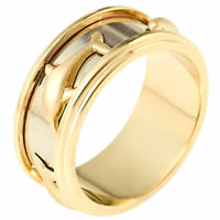 14K Two-Tone Wedding Band.