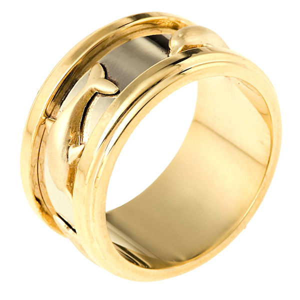 14K Two-tone Gold Wedding Band.