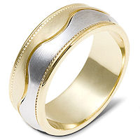 Item # 112051PE - 18K Gold and Platinum Wedding Band