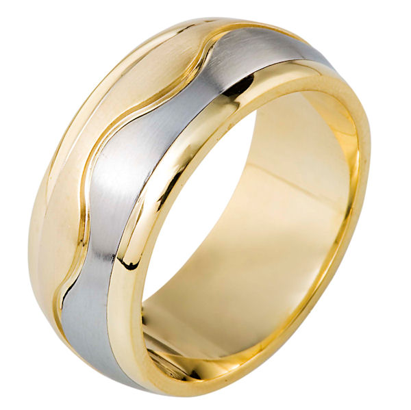 Item # 112061E - 18kt Gold Wedding Band View-1