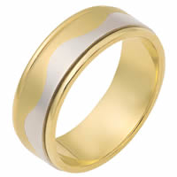 Item # 112081E - 18 kt Gold Wedding Ring Forever Together