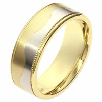 Item # 112091PE - 18K and Platinum Wedding Ring.