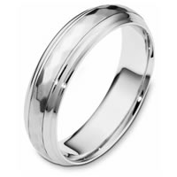 Item # 112611PP - Platinum Wedding RingRotating Center