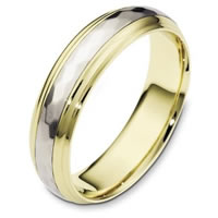 Item # 112611 - 14K Gold Wedding Band Rotating Center