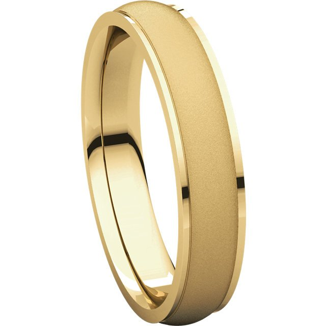 Item # 112771E - Men's Wedding Band 4mm Brushed Center View-5