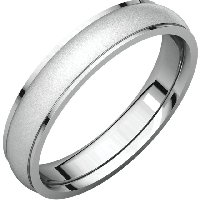 Men's  Wedding Ring 4.0mm Brushed Center