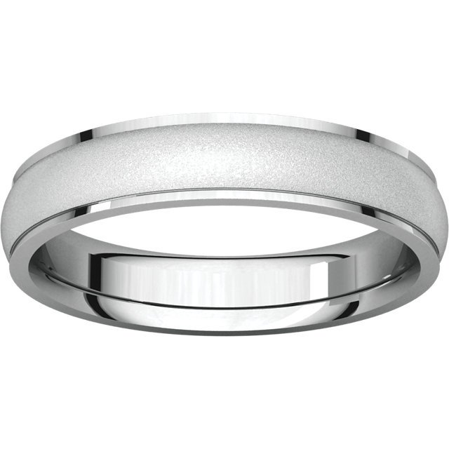 Item # 112771WE View 3 - Men's Wedding Band Brushed Center