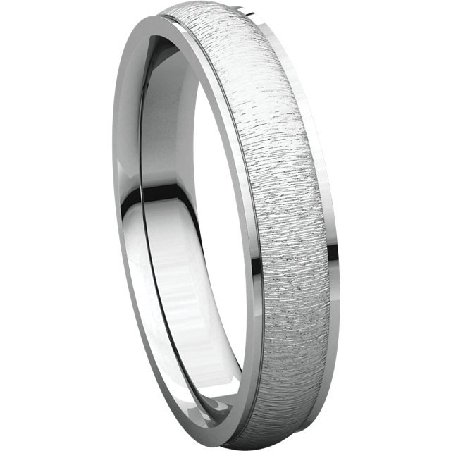 Item # 112771WE View 4 - Men's Wedding Band Brushed Center