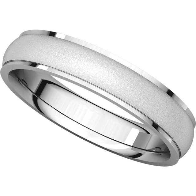 Item # 112771WE View 5 - Men's Wedding Band Brushed Center