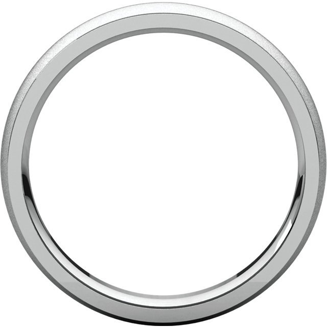 Item # 112781WE View 2 - 18K Wedding Band 5mm Brushed Center