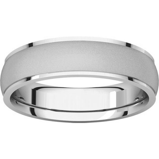 Item # 112781WE View 3 - 18K Wedding Band 5mm Brushed Center