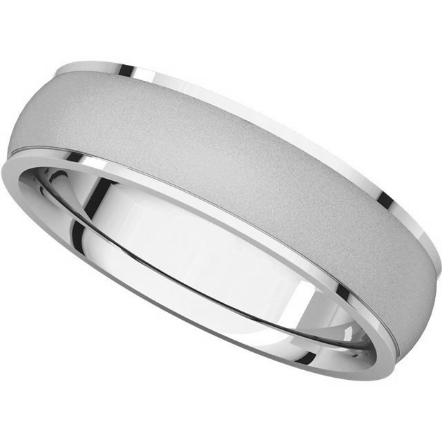 Item # 112781WE View 4 - 18K Wedding Band 5mm Brushed Center