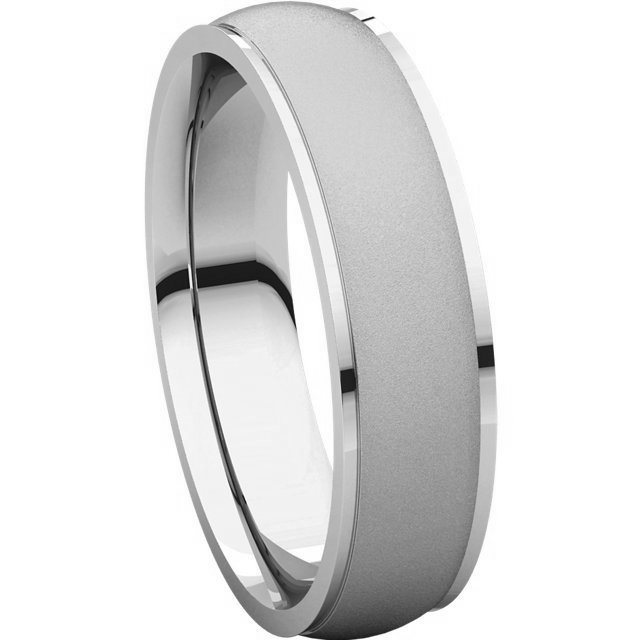 Item # 112781WE View 5 - 18K Wedding Band 5mm Brushed Center