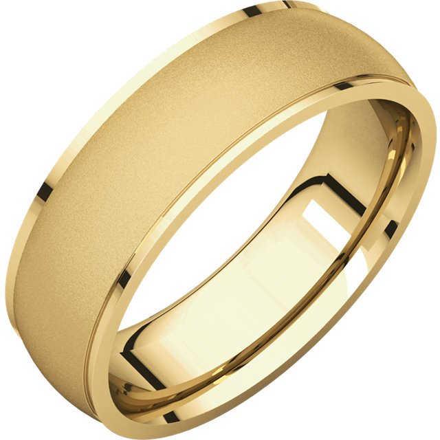 112791e 18k 6mm Comfort Fit Men S Wedding Band Brushed
