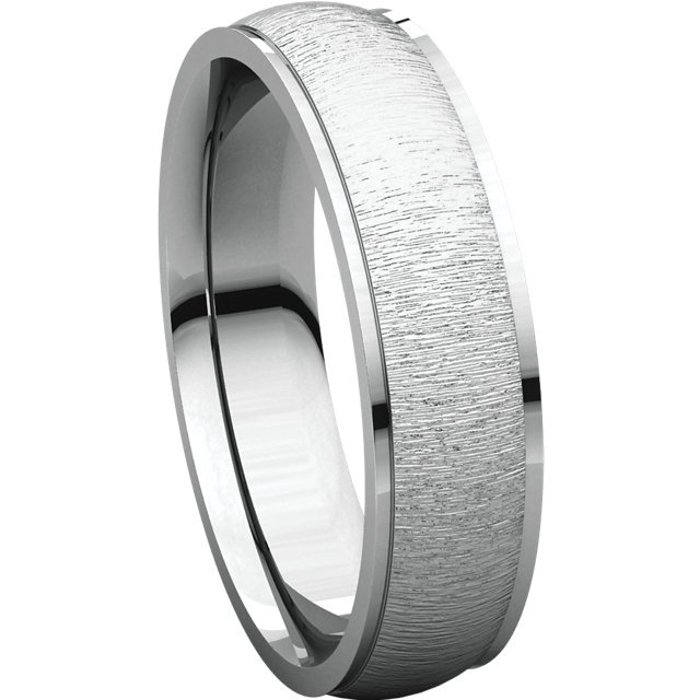 Item # 112791W View 4 - White Gold Comfort Fit Wedding Band Satin Finish