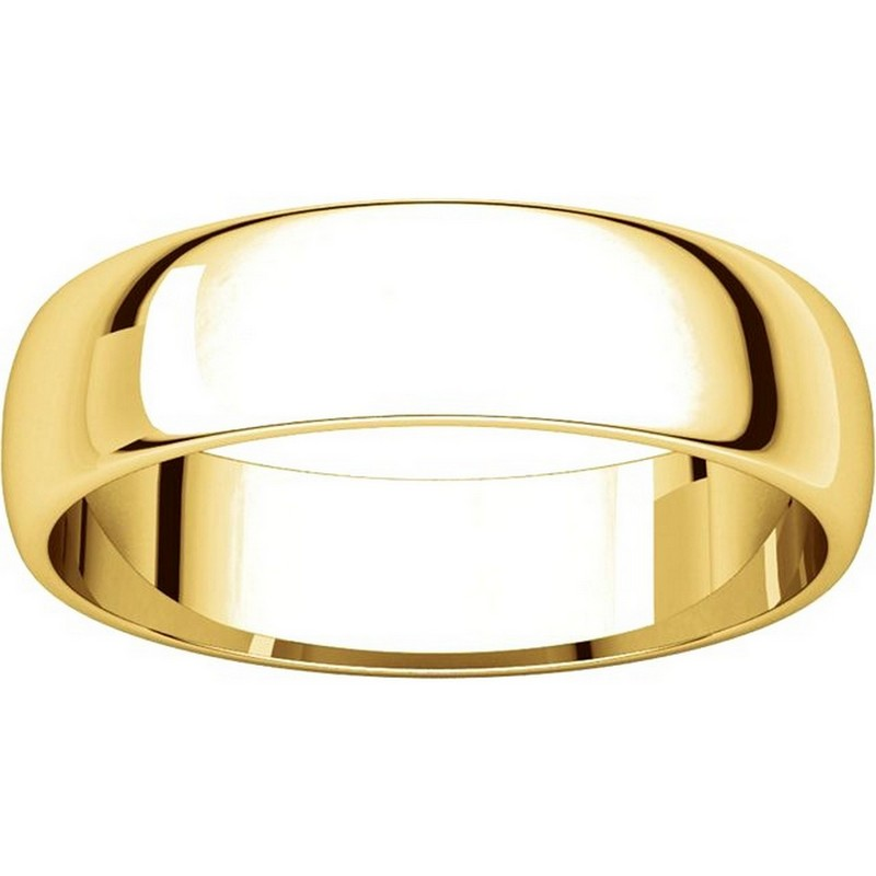 Item # 112941 View 3 - 14kt Gold Plain 5.0mm Men's Wedding Band