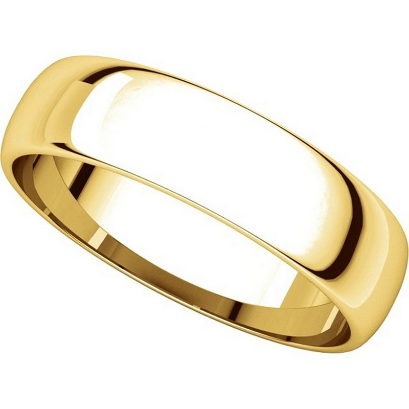 Item # 112941 View 4 - 14kt Gold Plain 5.0mm Men's Wedding Band