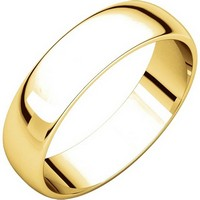 Item # 112941E - 18K Gold Ladies and Mens 5mm Wedding Ring
