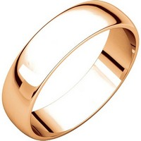 Item # 112941R - 14K Rose Gold Plain 5.0mm Men