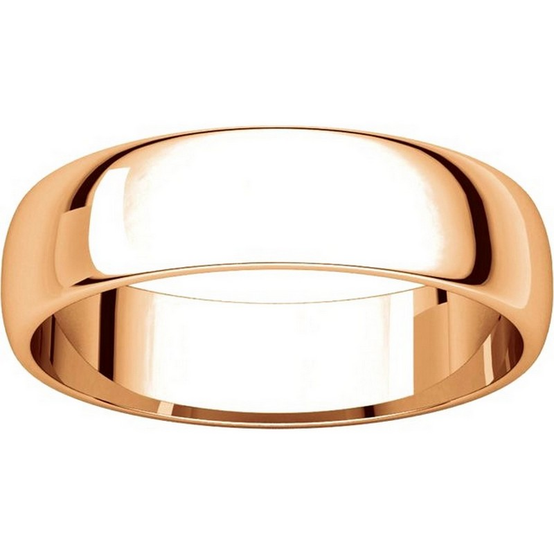 Item # 112941RE View 3 - 18K Rose Gold Ladies and Mens 5mm Wedding Ring