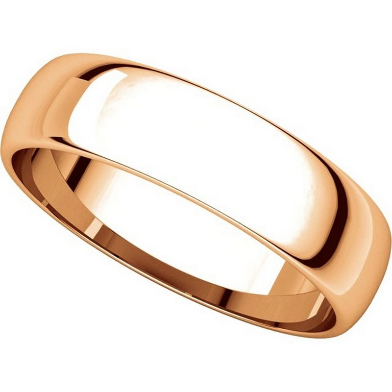 Item # 112941RE View 4 - 18K Rose Gold Ladies and Mens 5mm Wedding Ring