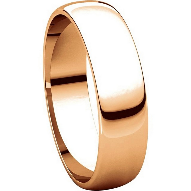 Item # 112941RE View 5 - 18K Rose Gold Ladies and Mens 5mm Wedding Ring