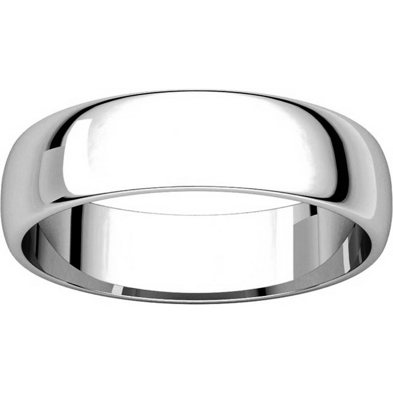 Item # 112941W View 3 - 14K White Gold Mens 5mm Wide Wedding Band