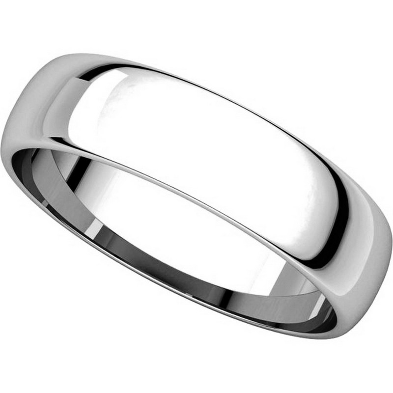 Item # 112941W View 4 - 14K White Gold Mens 5mm Wide Wedding Band