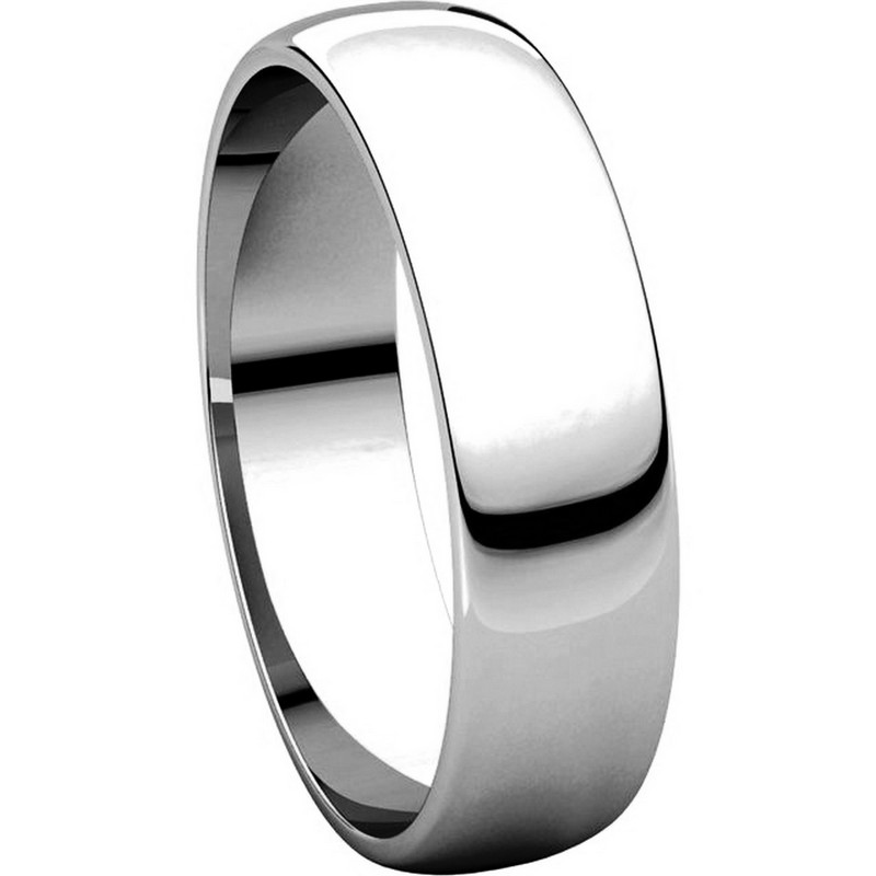 Item # 112941W View 5 - 14K White Gold Mens 5mm Wide Wedding Band