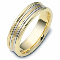 Item # 113021E - 18K Gold Comfort Fit, 6.0mm Wide Wedding Band
