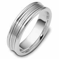 Item # 113021PP - Platinum Comfort Fit, 6.0mm Wide Wedding Band