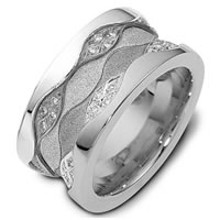 14KT Gold Diamond Wedding Band