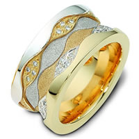 Item # 113291E - 18K Gold Diamond Wedding Ring