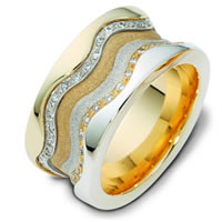 Item # 113311E - 18K Gold Diamond Wedding Band