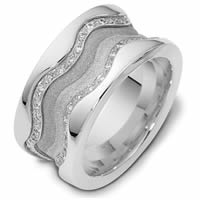 Item # 113311AWE - 18K White Gold Diamond Anniversary Ring