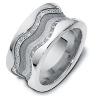 Item # 113311WE - 18K Gold Diamond Wedding Band