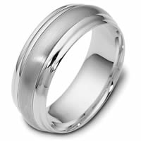 Item # 113801WE - 18K White Gold Classic 7.5mm Wedding Band