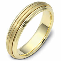 Center Rotating Gold Wedding Ring