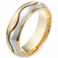 Item # 114081E - 18 kt Gold Wedding Band