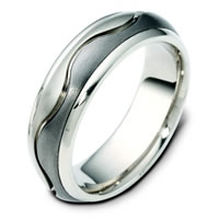 Item # 114081TG - Titanium & 14K Gold Wedding Ring