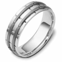 Item # 114251TG - Titanium-14 K Gold Two-Tone Wedding Ring
