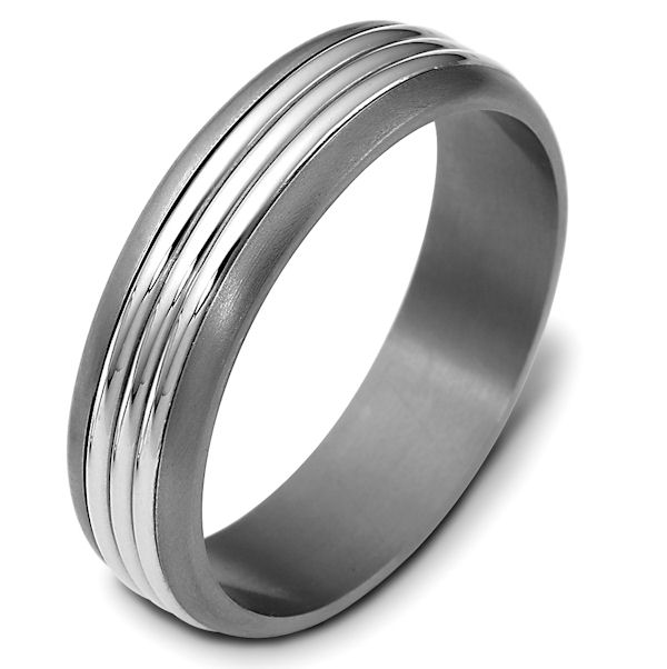 Titanium-Gold 5.0mm Wide, Comfort Fit Wedding Band