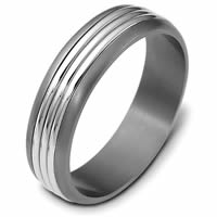 Item # 114271TE - Titanium-18K 5.0mm Wide Comfort Fit Wedding Band